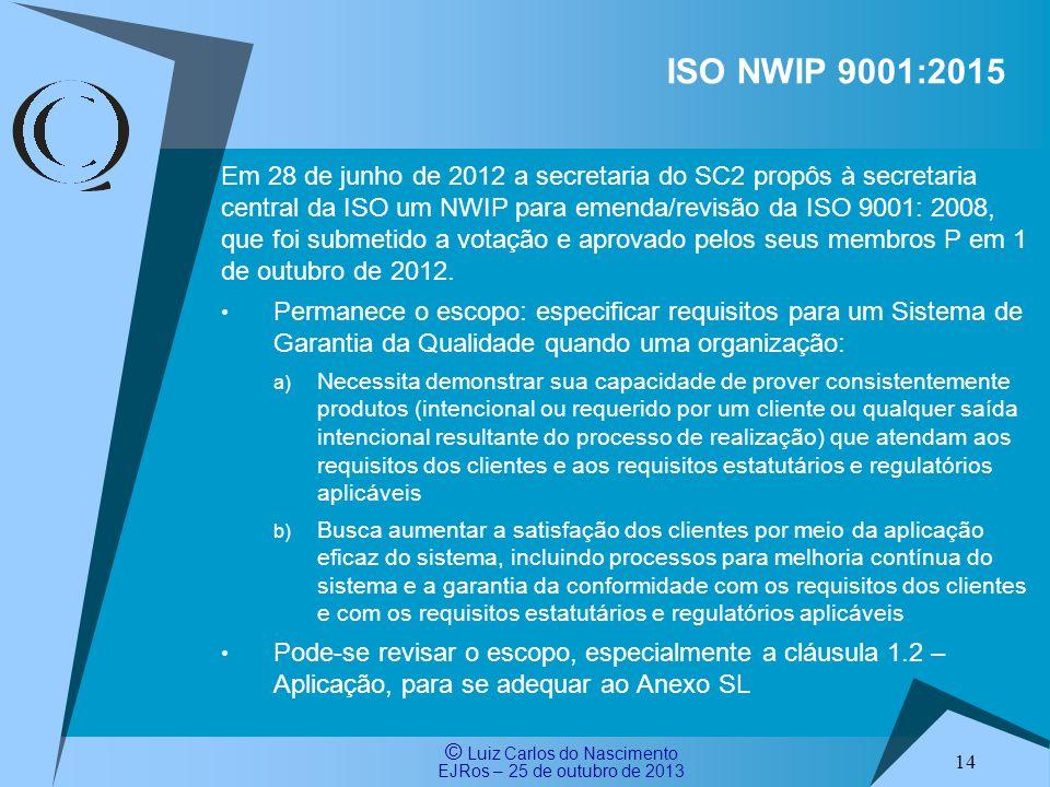 ISO NWIP 9001:2015