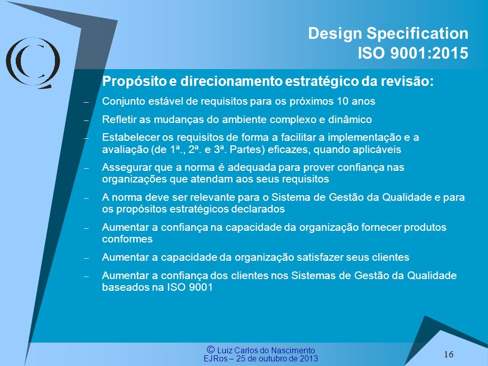 Design Specification ISO 9001:2015