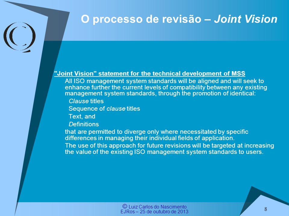 O processo de revisão – Joint Vision