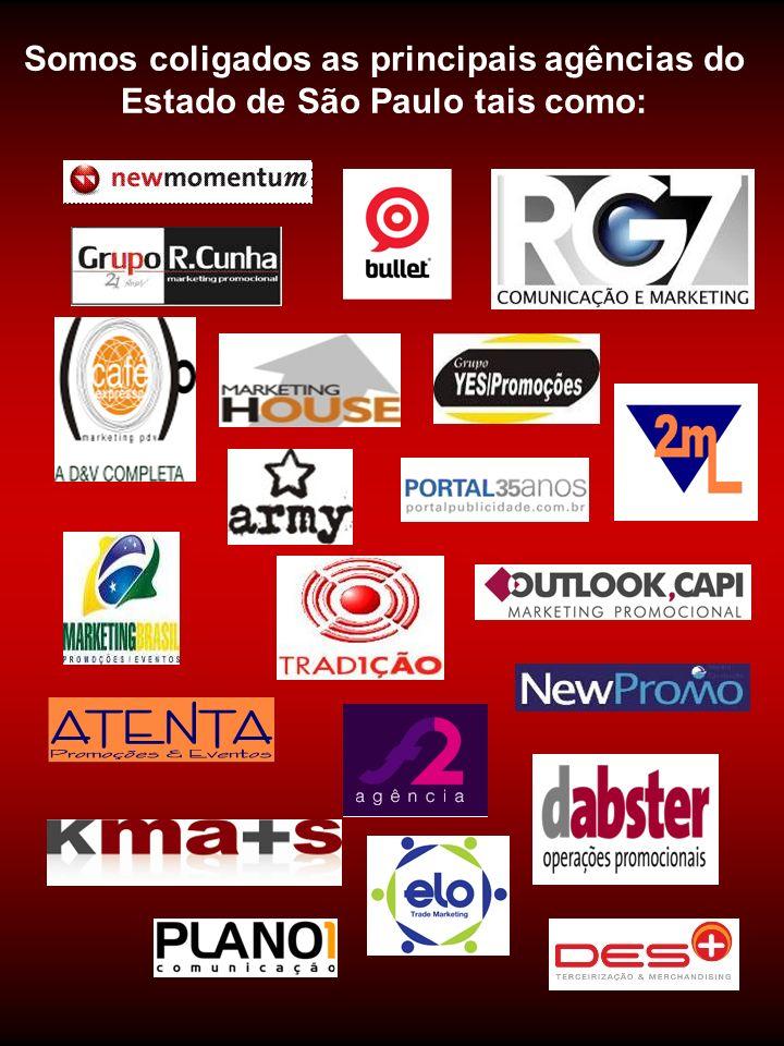 Somos coligados as principais agências do Estado de São Paulo tais como: