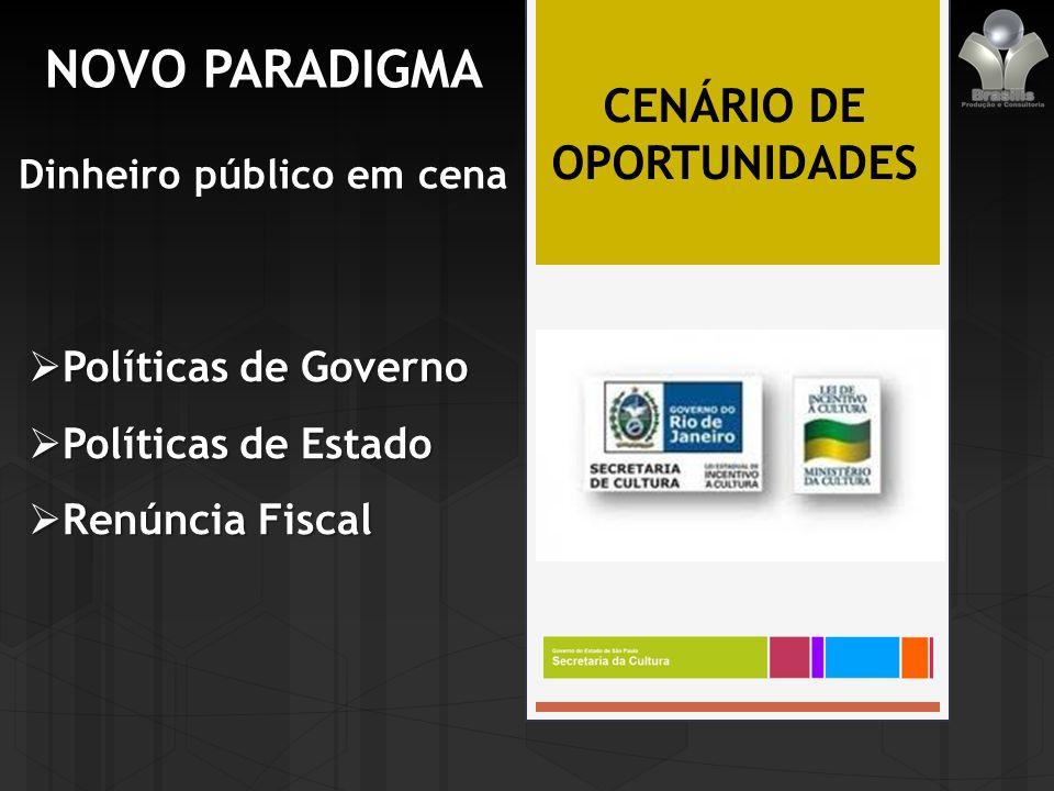 Dinheiro público em cena CENÁRIO DE OPORTUNIDADES