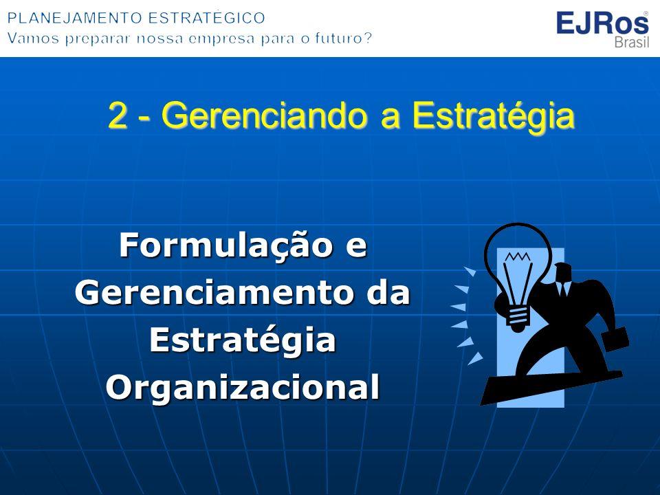 Formulação e Gerenciamento da Estratégia Organizacional