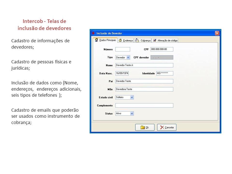 Intercob - Telas de inclusão de devedores