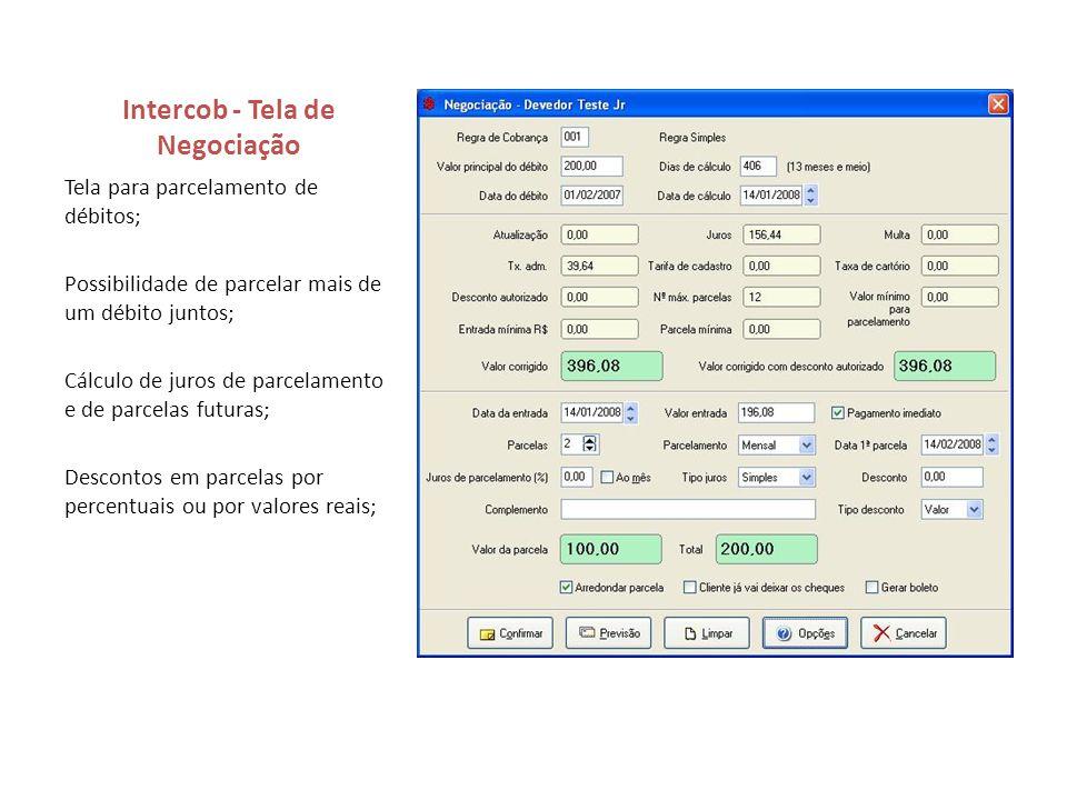 Intercob - Tela de Negociação