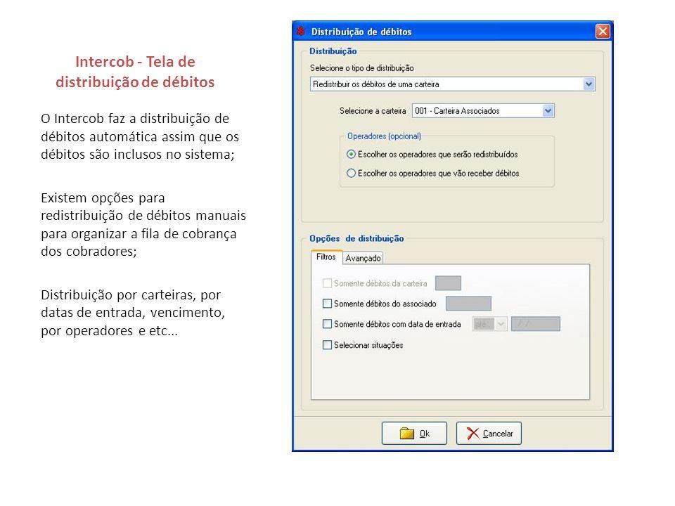 Intercob - Tela de distribuição de débitos