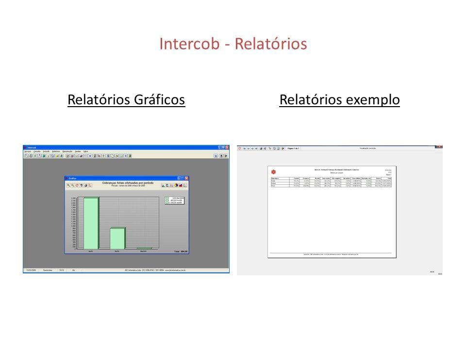 Intercob - Relatórios Relatórios Gráficos Relatórios exemplo