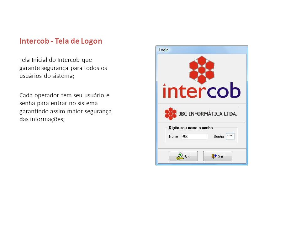 Intercob - Tela de Logon
