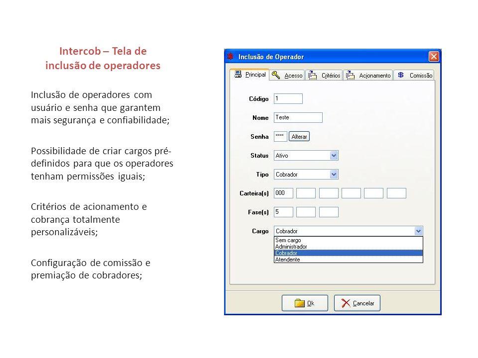 Intercob – Tela de inclusão de operadores
