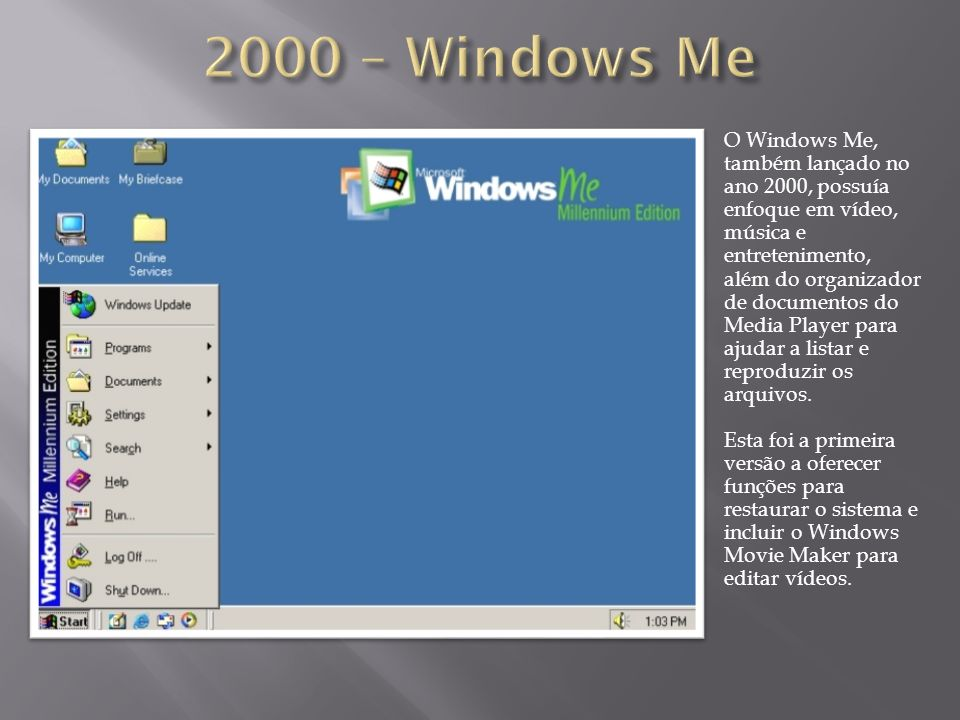 2000 – Windows Me