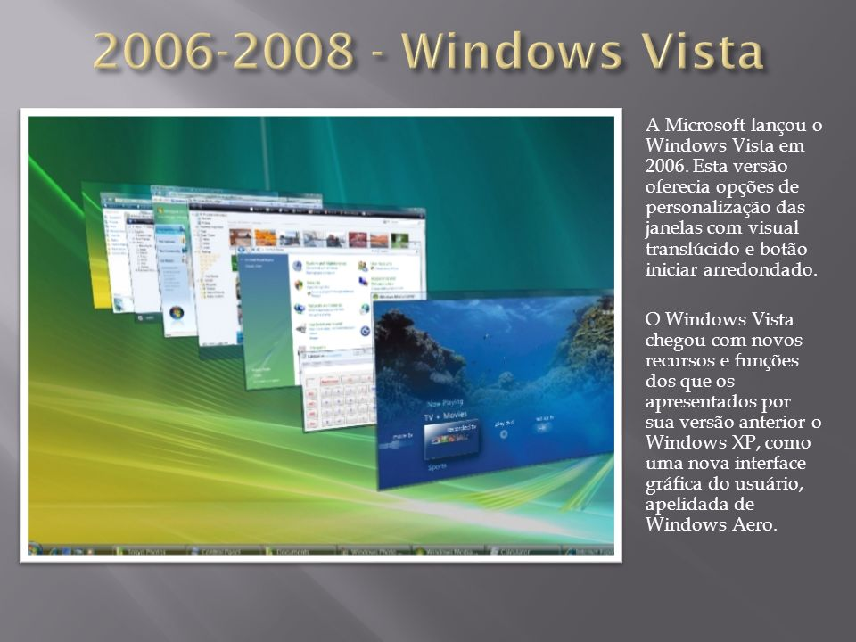 2006-2008 - Windows Vista