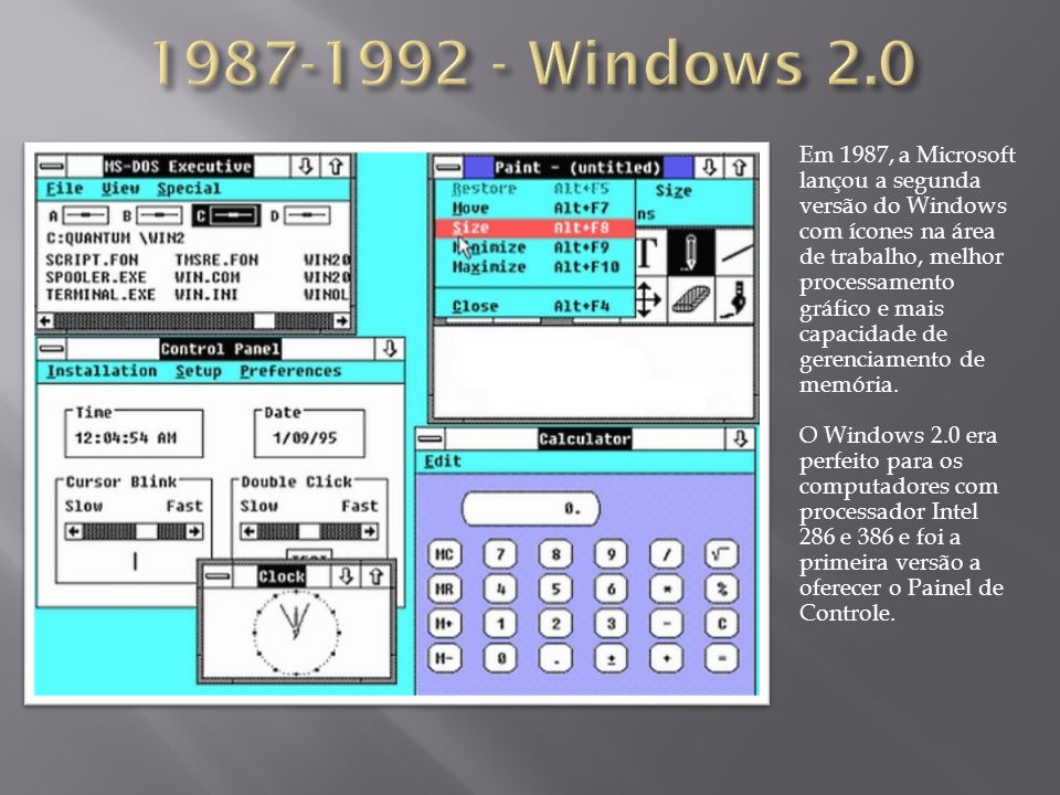 1987-1992 - Windows 2.0