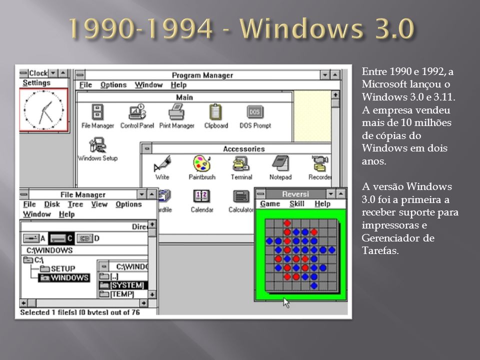 1990-1994 - Windows 3.0