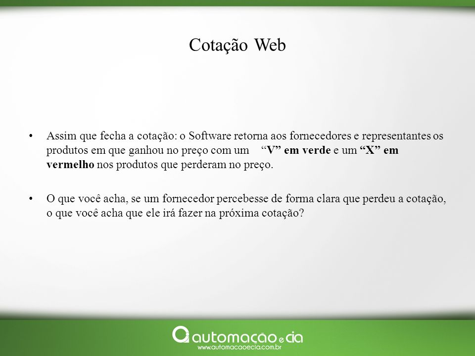 Cotação Web