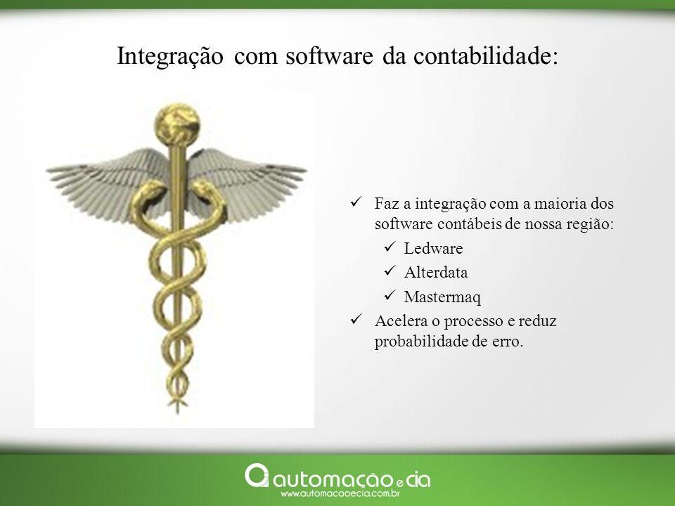Integração com software da contabilidade: