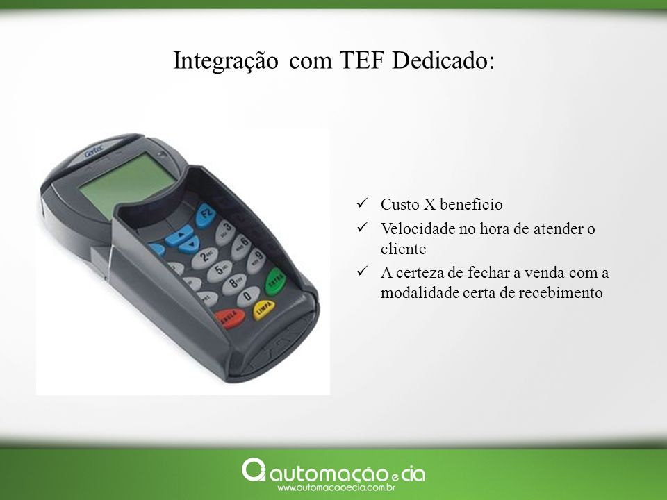Integração com TEF Dedicado:
