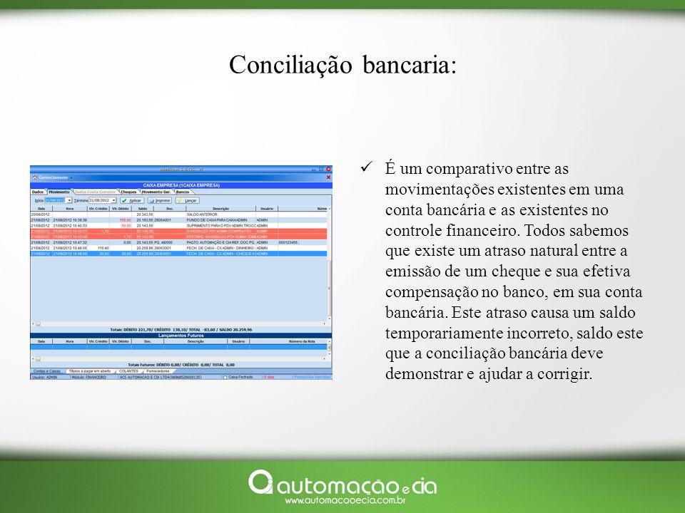 Conciliação bancaria:
