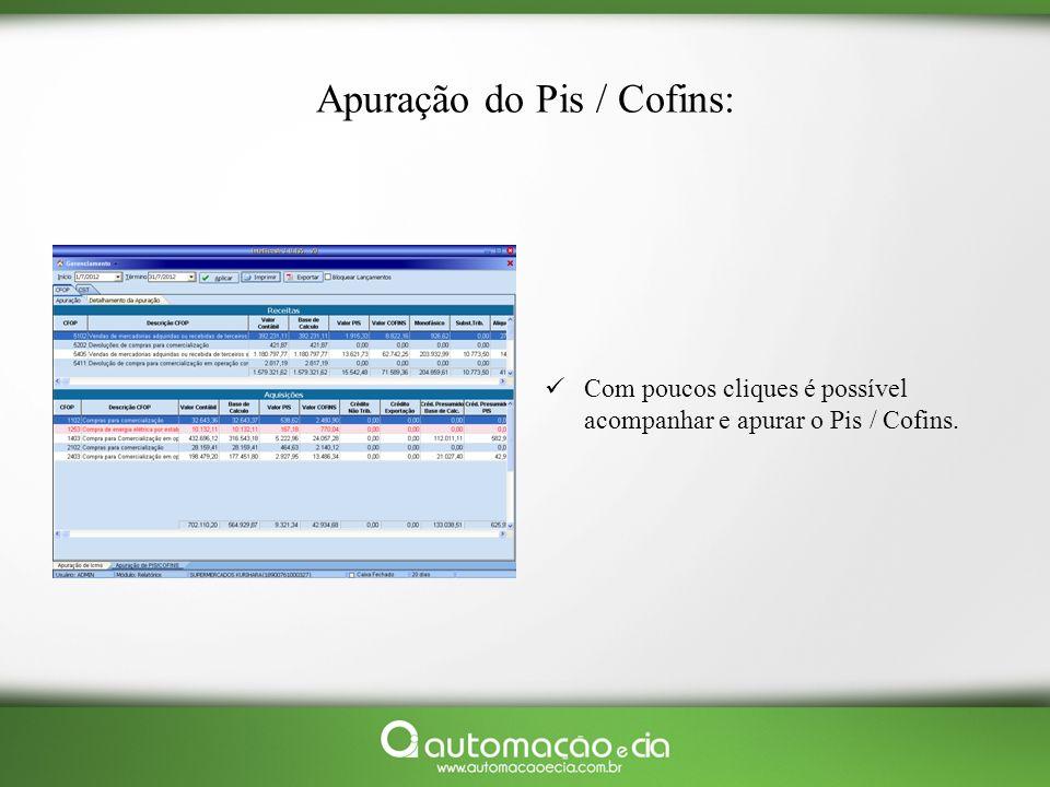 Apuração do Pis / Cofins: