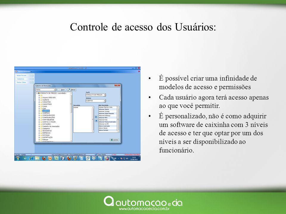 Controle de acesso dos Usuários: