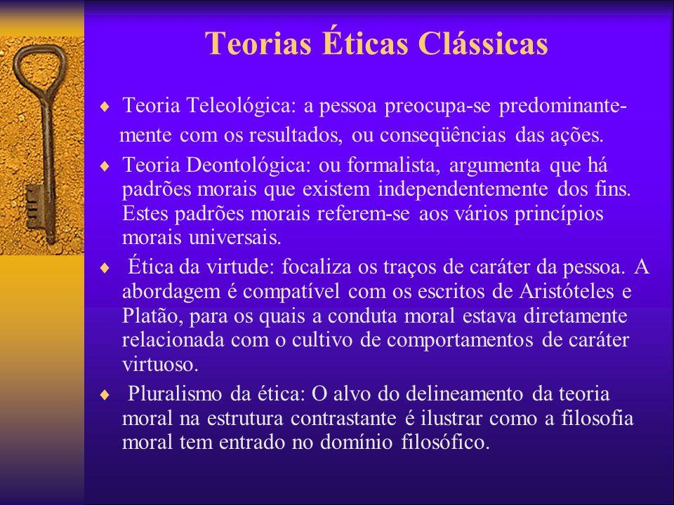 Teorias Éticas Clássicas