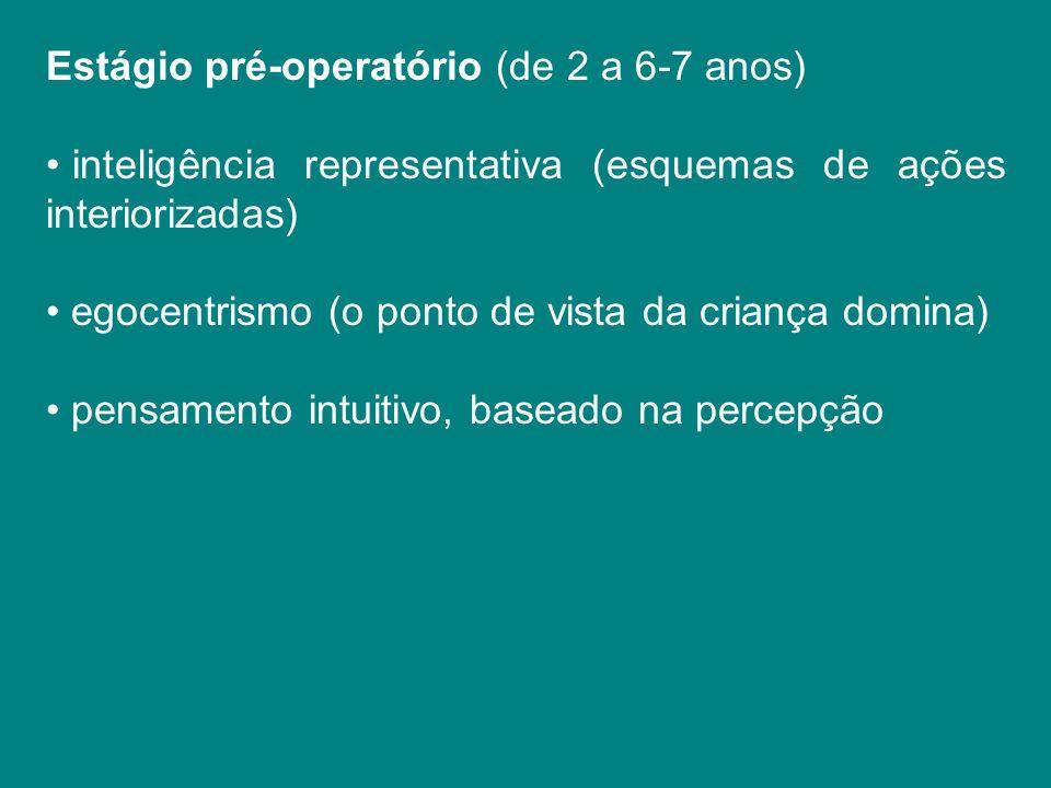 Estágio pré-operatório (de 2 a 6-7 anos)