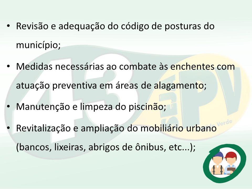 Revisão e adequação do código de posturas do município;