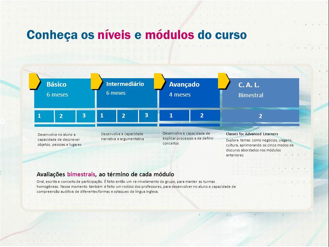 Conheça os níveis e módulos do curso