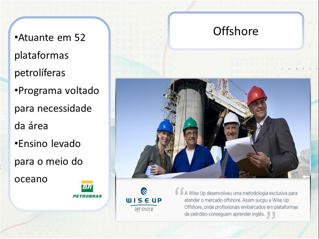 Offshore Atuante em 52 plataformas petrolíferas