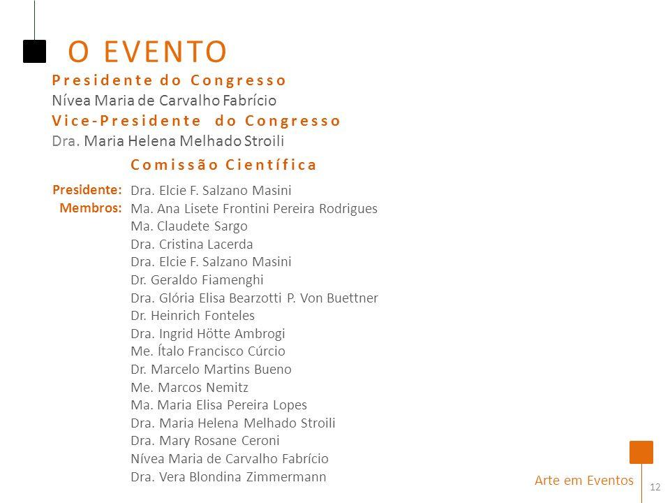 O EVENTO Presidente do Congresso Nívea Maria de Carvalho Fabrício