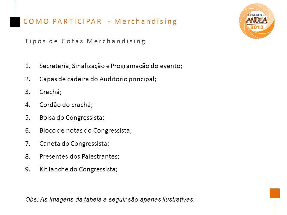 COMO PARTICIPAR - Merchandising