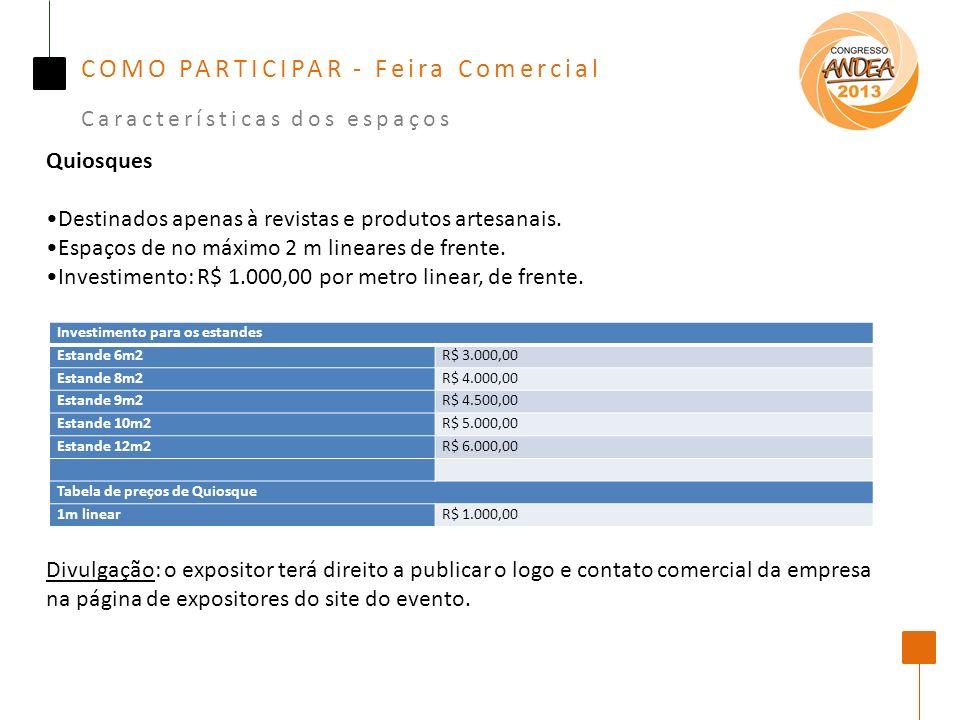 COMO PARTICIPAR - Feira Comercial