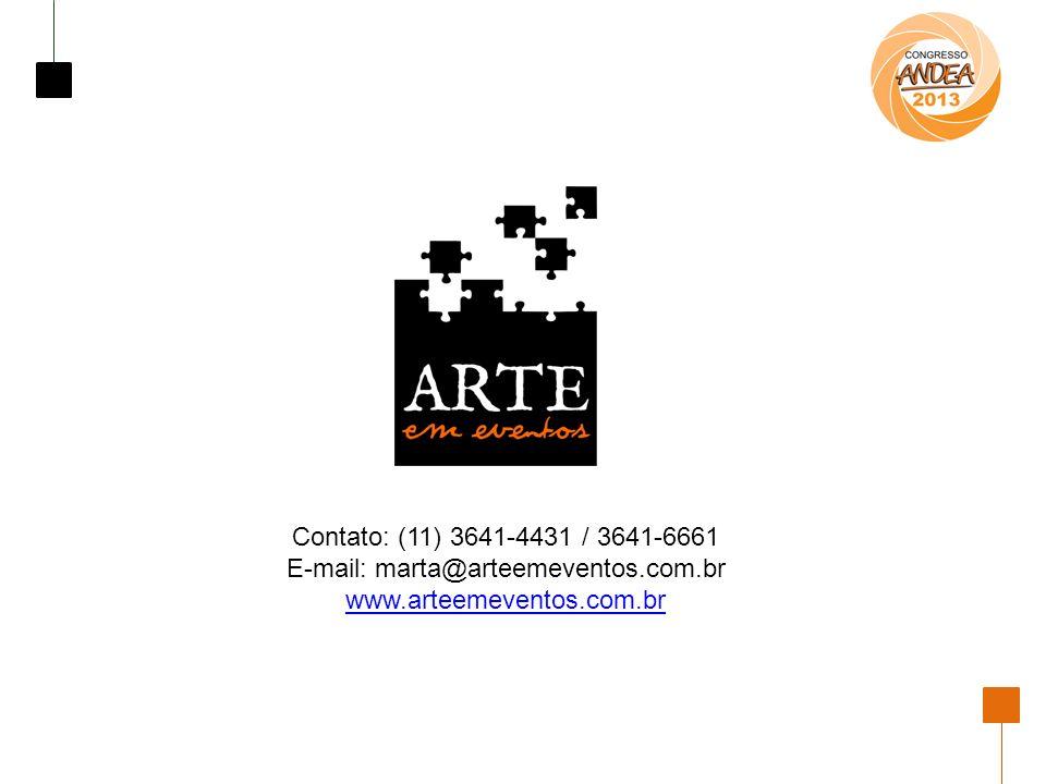E-mail: marta@arteemeventos.com.br