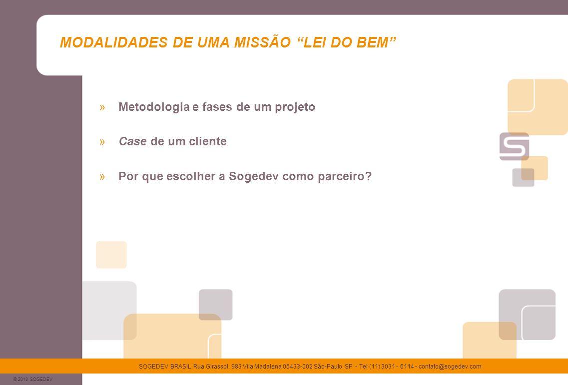 MODALIDADES DE UMA MISSÃO LEI DO BEM