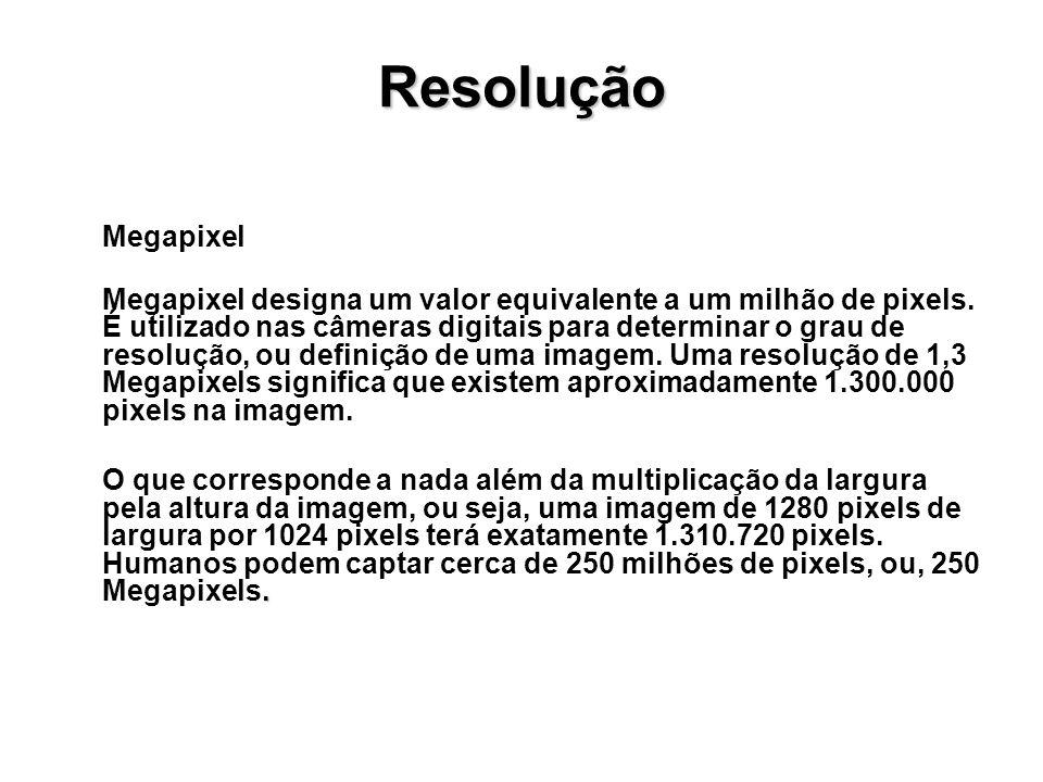 Resolução Megapixel.