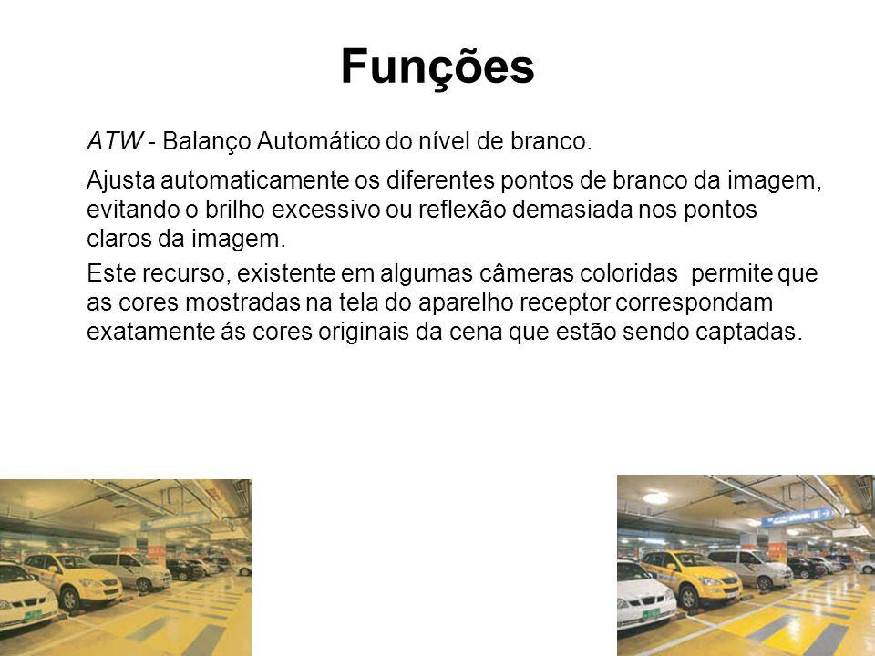 Funções ATW - Balanço Automático do nível de branco.