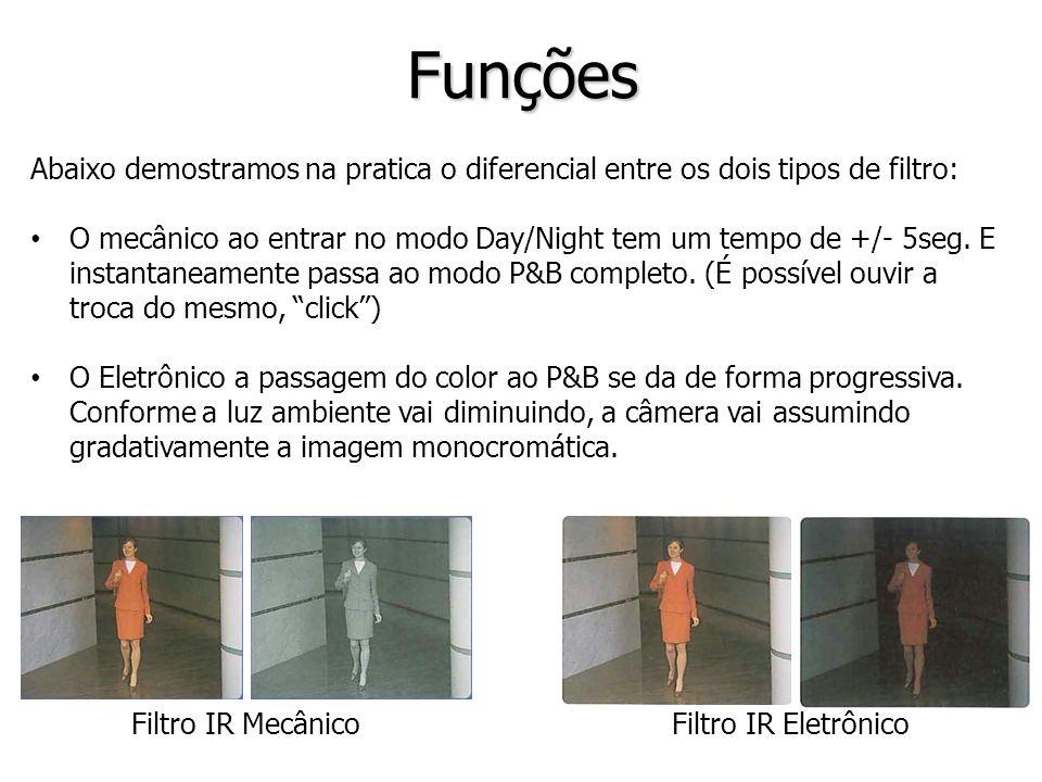 Funções Abaixo demostramos na pratica o diferencial entre os dois tipos de filtro: