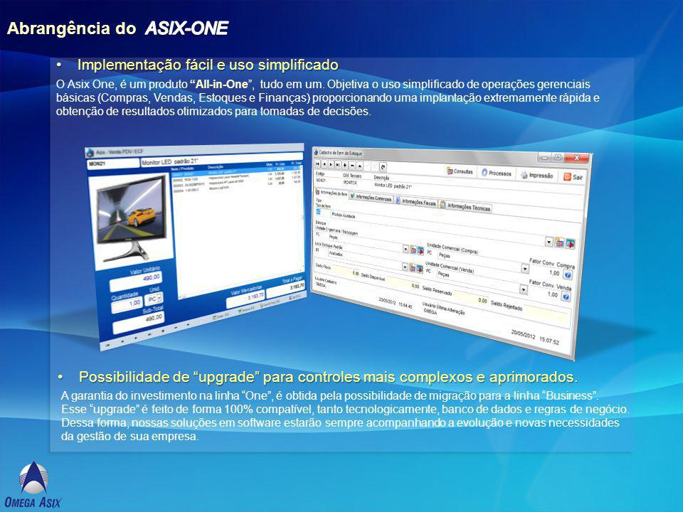 Abrangência do ASIX-ONE