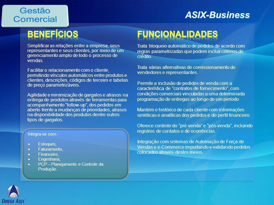Gestão Comercial ASIX-Business Benefícios Funcionalidades