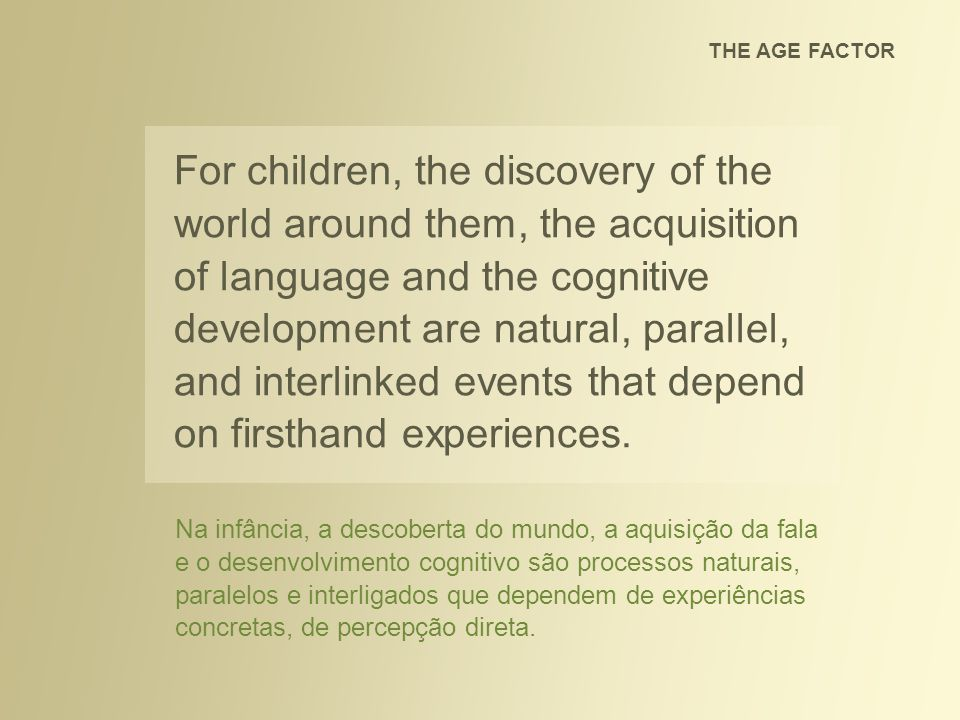 THE AGE FACTOR