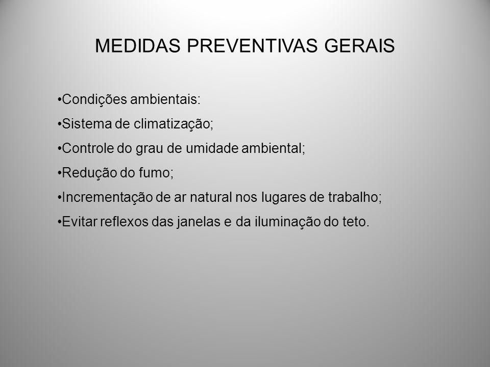 MEDIDAS PREVENTIVAS GERAIS
