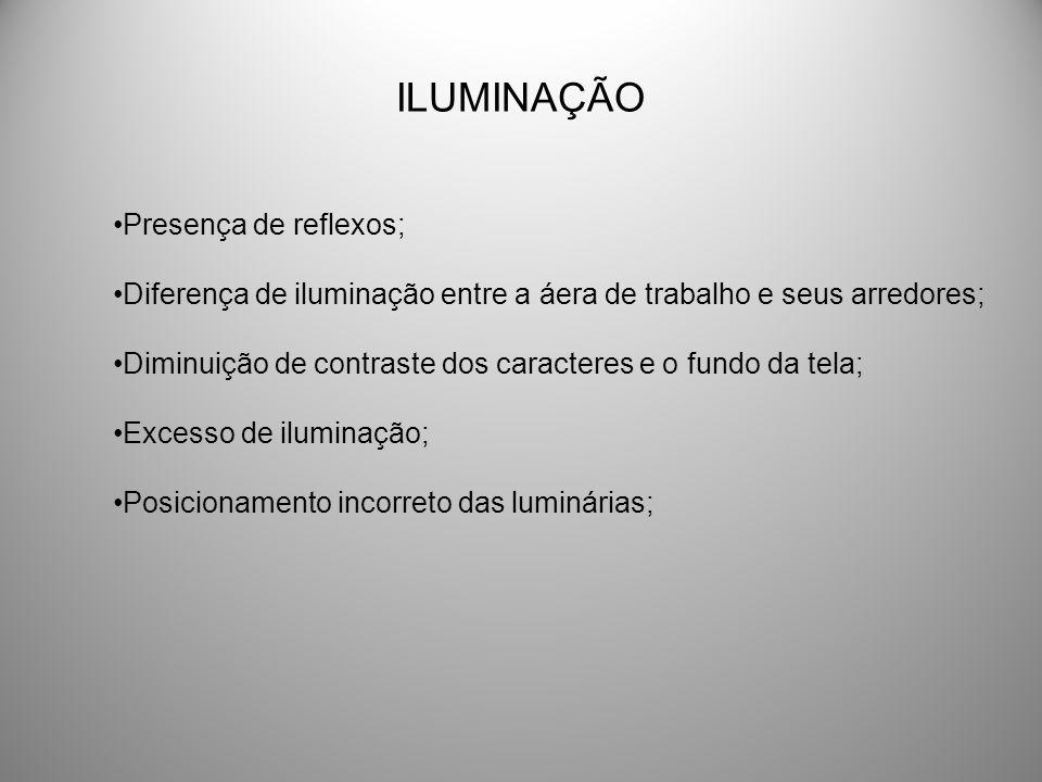 ILUMINAÇÃO Presença de reflexos;