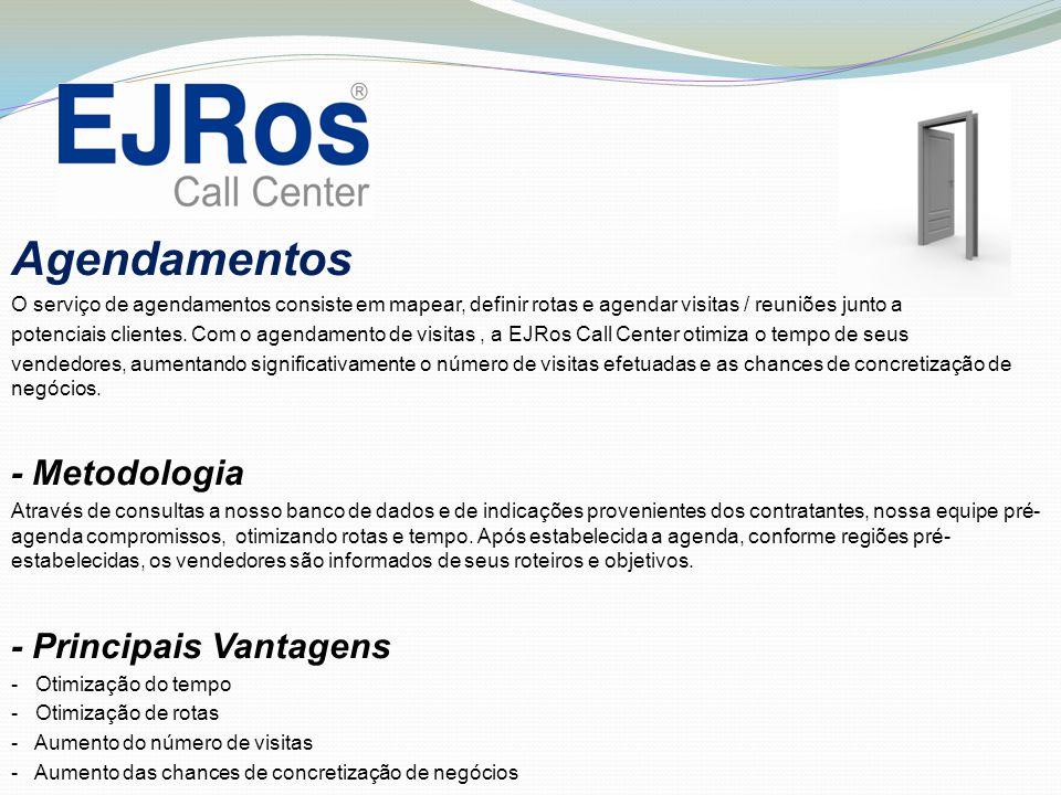 Agendamentos - Metodologia - Principais Vantagens