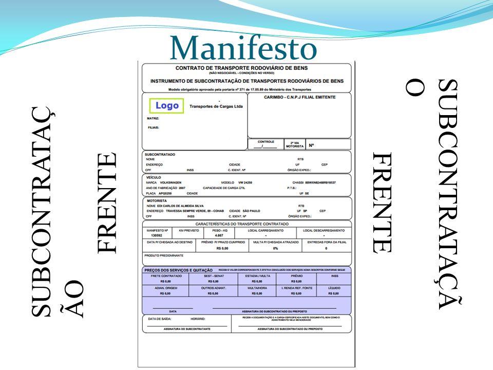 Manifesto SUBCONTRATAÇÃO FRENTE SUBCONTRATAÇÃO FRENTE