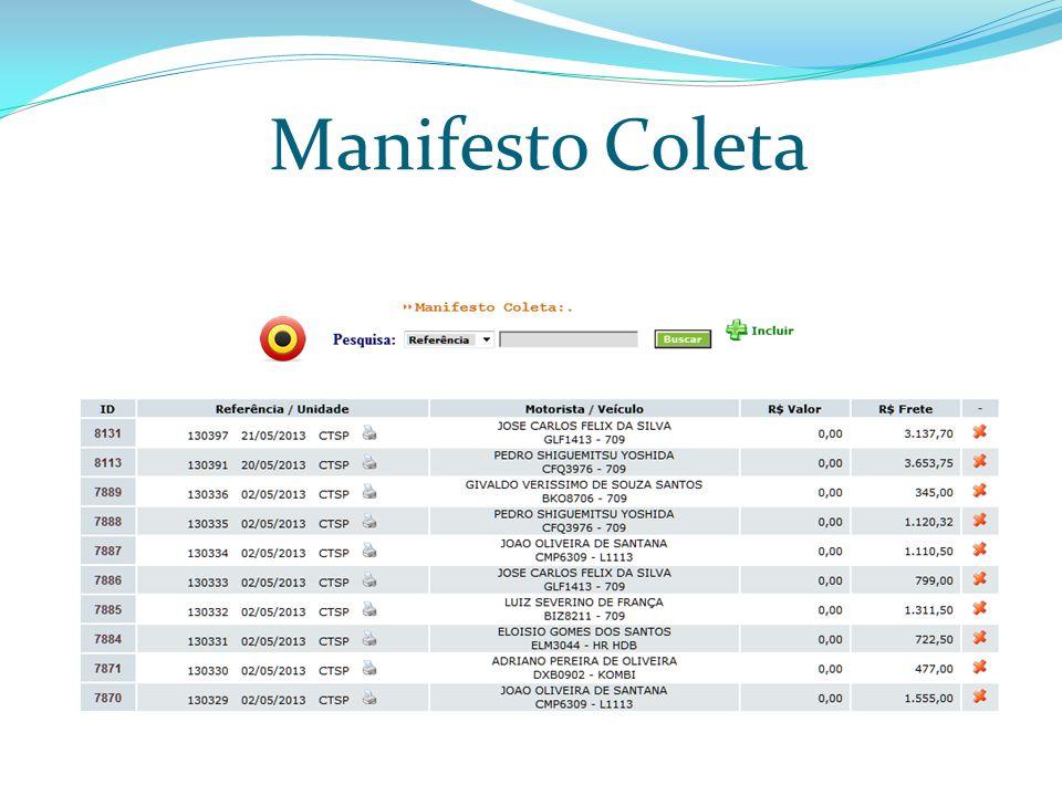 Manifesto Coleta