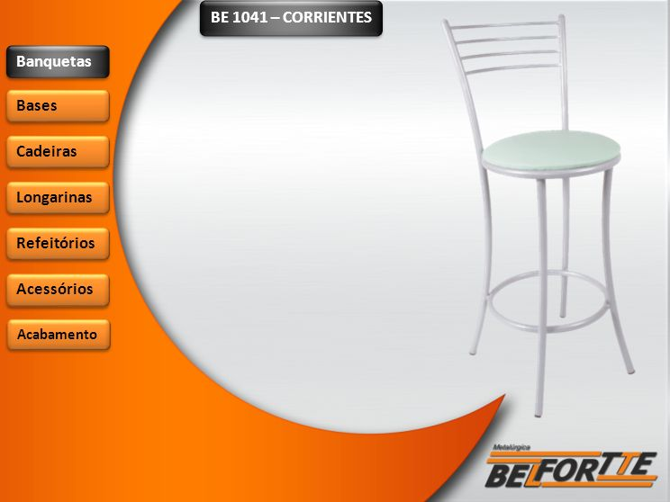 BE 1041 – CORRIENTES Banquetas Bases Cadeiras Longarinas Refeitórios