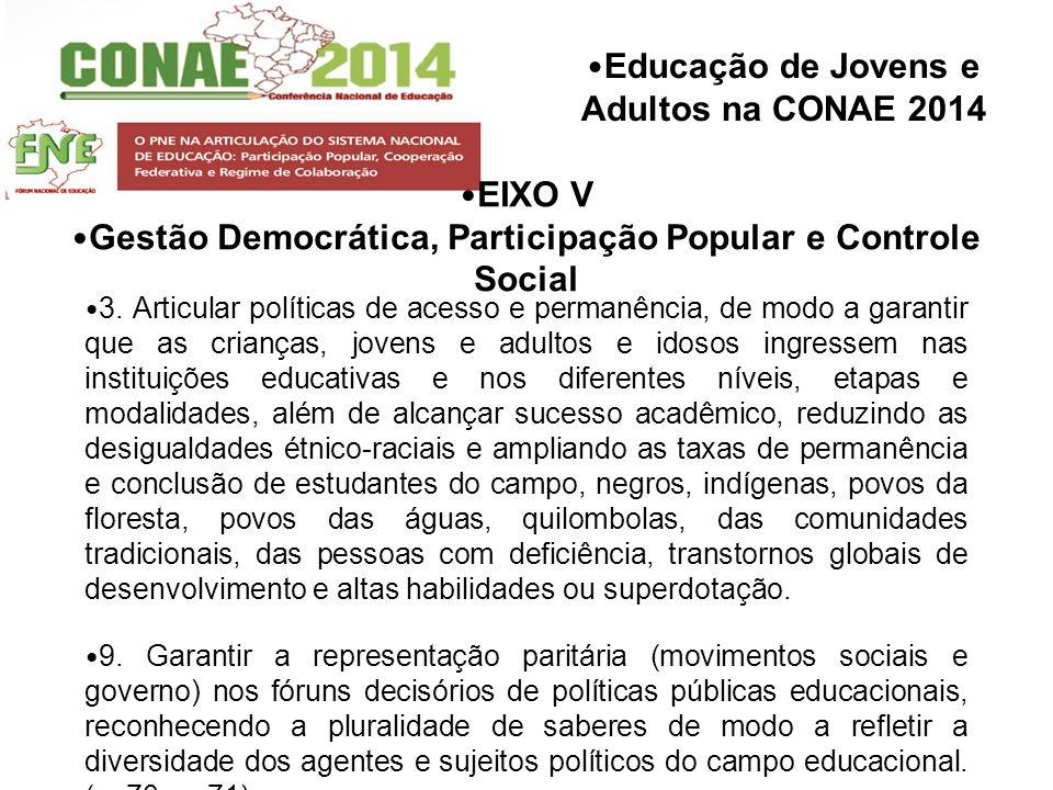 Gestão Democrática, Participação Popular e Controle Social