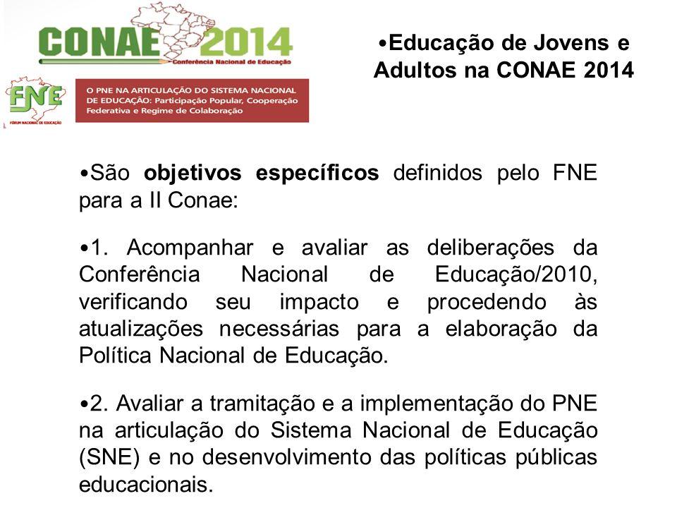 São objetivos específicos definidos pelo FNE para a II Conae: