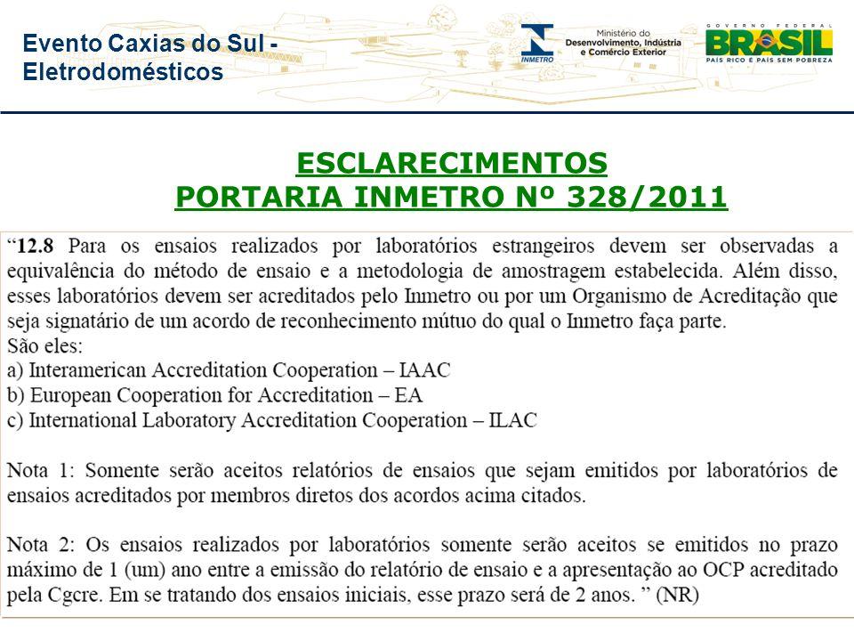 ESCLARECIMENTOS PORTARIA INMETRO Nº 328/2011