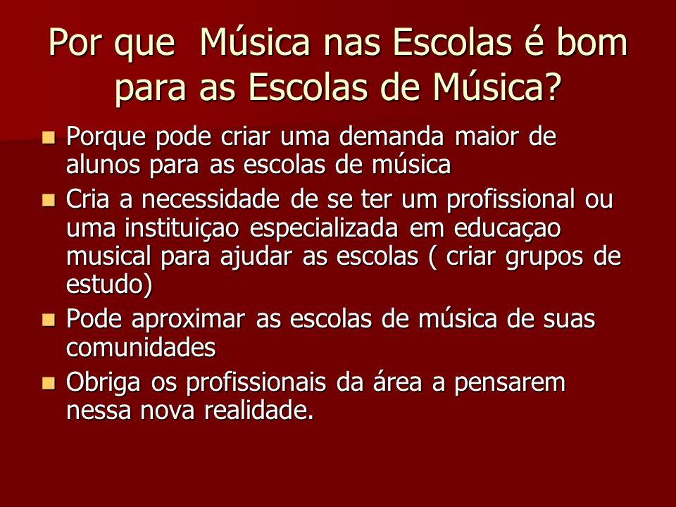 Por que Música nas Escolas é bom para as Escolas de Música