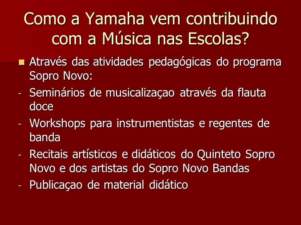 Como a Yamaha vem contribuindo com a Música nas Escolas
