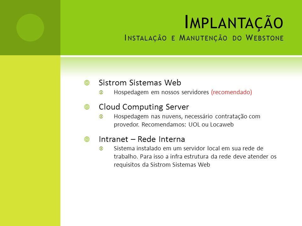 Implantação Instalação e Manutenção do Webstone